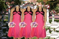 Polka Dot Rockabilly Bridesmaid Dress by bombshellbridal on Etsy, $99.00 Unique Dresses, Formal Dresses, Hollywood Wedding, Wedding Planning, Wedding Ideas, Rockabilly, Hawaii, Polka Dots, Bridesmaid Dresses