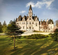 Budmerice, Pezinok region, Slovakia. - The mansion was built in pseudo-gothic style by the Palffy family in 1889, and surrounded by English park from 19th century.