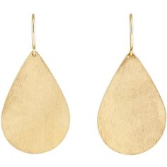 Irene Neuwirth Women's Pear-Shaped Drop Earrings (3.270 BRL) ❤ liked on Polyvore featuring jewelry, earrings, no color, polish jewelry, pear shape earrings, 18 karat gold earrings, oversized earrings and 18 karat gold jewelry