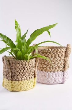 Cast and hand painted to look like a woven basket, this color-dipped cement pot is a trompe l'oeil delight. Anthropologie Bedding, Anthropologie Home, Driven By Decor, Basket Planters, Plant Basket, Crochet Diy, Crochet Ideas, Nordstrom Gifts, Favorite Candy