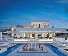 21 Trendy home design exterior luxury mansions Luxury Modern Homes, Luxury Homes Dream Houses, Modern Mansion, Dream Homes, Modern Villa Design, Dream House Exterior, Modern Architecture House, Classical Architecture, Dream Home Design