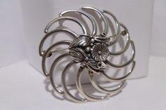 Flower Sun Native Brooch Sterling Silver Hallmark GG STER Vintage #EGSTER