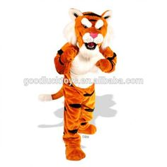 Power Tiger Mascot Costume for Cheap Mascot Costumes, Adult Costumes, Promotional Events, New Product, Tigger, Disney Characters, Fictional Characters, Cartoon, Cats