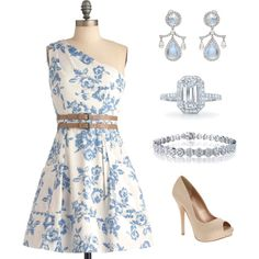 """Outfit- """"The Perfect Hostess"""" or a summer wedding or a baby shower or... Endless possibilities. Love this dress. So sweet!"""