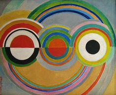 Sonia Delaunay - complimentary color circle design (or any other shape with an appropriate color scheme)