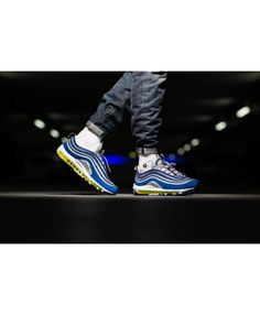 factory price 9dbc7 1c4de Nike Black Friday Air Max 97 Atlantic Blue Neon Silver Mens Retro Air Max  97,
