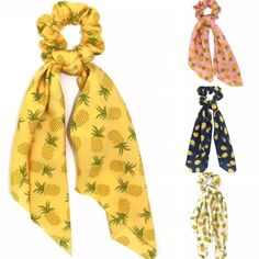 Our Big Sister Scrunchie Scarfs to our very popular scrunchies double the love Pina Colada, Scrunchies, Pineapple, Accessories, Pinecone, Pine Apple, Ornament