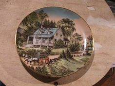 Four seasons ; SUMMER.   We have a collection of four plates reproduced from original works by the world famous craftsman; Currier and Ives.   (Bond International 1986).