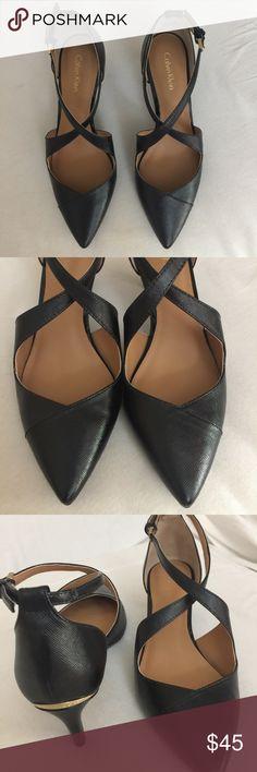 Calvin Klein black kitty heels Comfortable and stylish kitten heels that are perfect for work. Brand new-never worn. No box or tags. Black. Calvin Klein Shoes Heels