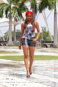 Priyamani posing in Short Jeans