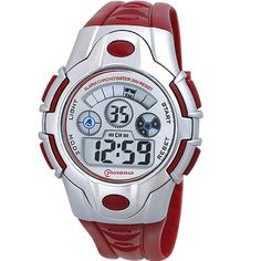 Boys Sport Digital Waterproof Watch for Kids Chronograph. Japanese quartz movement, high-grade material. Watch band length: 9.49 inches. Great gift for your children, convenient for life. Date, day, month, second, minute, hour displaying, alarm, chronograph function. Recommended age: more than 9 years old.