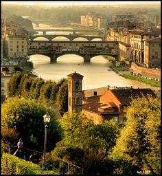 beautiful Firenze (Florence), Italy--overlooking the Arno river