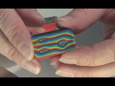 Polymer Clay Miniature - Rainbow Wood Cane - YouTube