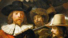 Rembrandt, la Ronde de nuit, 1642. Huile sur toile, 363 × 437 cm. Rijksmuseum, Amsterdam.
