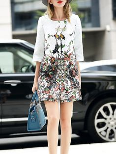 Fashion Printed Long coat