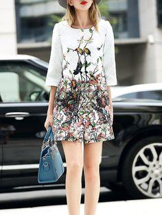 Fashion Printed Long coat