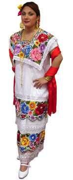 4eb7dd9c65 Yucatan embroidery. Vestidos Tipicos MexicanosTrajes ...