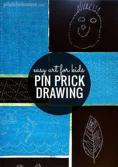 Prikpen kunst - Knutselen voor kinderen - Pin prick drawings may great 'sun catchers' and are an easy, no-mess, art activity for kids School Art Projects, Projects For Kids, Crafts For Kids, Art Activities For Kids, Preschool Art, Easy Art For Kids, Simple Art, Creative Kids, Teaching Art