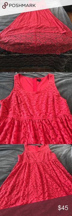 Torrid Sleeveless Lace Hi Lo Dress NWOT Sleeveless Lace Dress in a pink torrid Dresses High Low http://oopsinspired.com/