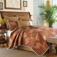 Tommy Bahama Orange Cay Quilt, 100% Cotton - BedBathandBeyond.com