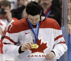 Sidney Crosby and his gold medal... that game-winning Olympic goal is something I'll never forget!