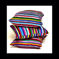 50x50cm Cushions / No two cushions will ever look the exactly the same, it's part of the beauty of the material #Handcrafted