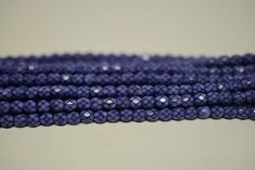 4MM, Lavender, Round Faceted, Snake Fire Polished Czech Glass Beads - 50 Beads