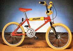 1982 catalogue image of the Raleigh Burner in red