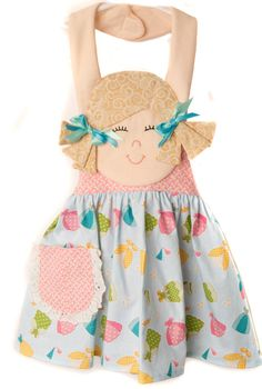 PATTERN--apron--for little girls---Fran and Friends by ida/'s ideas