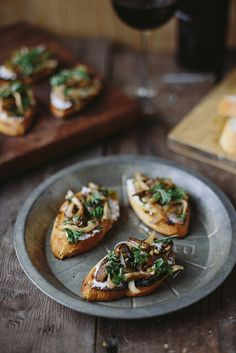 Mushroom Crostini by Delightfully Tacky, via Flickr - They're very delicious!