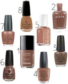 Neutral nail polish like Chanel Khaki Rose