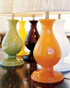 Milk Glass Table Lamps from Pottery Barn