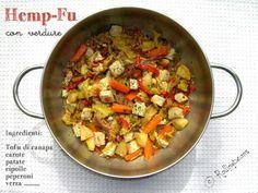 spezzatino di tofu di canapa con verdure