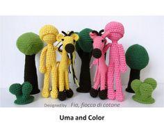 Pattern Uma giraffe amigurumi crochet por cottonflake en Etsy