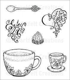 Heartfelt Creations   Coffee Talk Cling Stamp Set