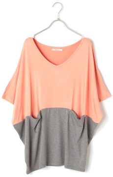 Tunic knit / ShopStyle: Lautreamont Droite 配色切替チュニックニット