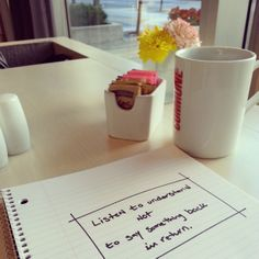 """new #blog post: """"are you really listening?""""  #listening #empathy #journaling #life #coffeeshops #selfreflection coffeeshopreflections.com Reflection About Life, Coffee Shop, Journaling, Self, Thoughts, Words, Blog, Coffee Shops, Coffeehouse"""