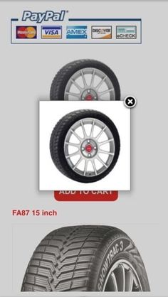 Winter package (tires on wheels) for 2016 Fiat 500. Available to buy online. Check the website for more choices or to order winter tire & alloy wheel packages. Price per package (4 tires & 4 wheels). Comes with a tire professionally installed on a wheel.  www.GermanCarTire.ca