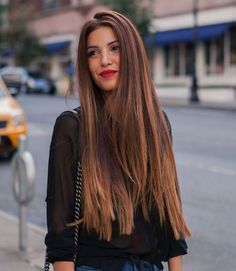 Dark Brown Ombre Look