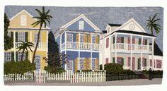 Old Key West II . . . hooked by John Flournoy