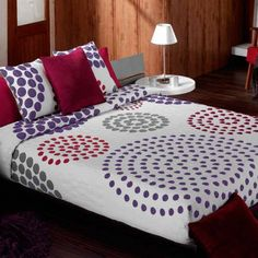 COLCHA CANTU Colchas cubrecamas modelo Cantu 589 que nos presenta la empresa Manterol. Esta colcha cuenta con un diseño muy atractivo que gustará a toda la familia. Puedes comprobar que en el diseño de la colcha se encuentra un montón de puntos que forman círculos grandes de diferentes tonalidades y tamaños, dándole un toque mágico y muy moderno. Stylish Beds, Duvet, Bedding, Bed Spreads, Comforters, Blanket, Yoshi, Room, Furniture