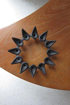 Dansk Starholder Crown of Thorns Cast Iron Candle Holder Jens Quistgaard