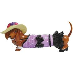 Great Gifts for All - Hot Diggity Dog Kentucky Derby Figurine Dachshund Love, Daschund, Derby Party, Dog Items, Kentucky Derby, Dog Art, Purple And Black, Weiner Dogs, Dachshunds