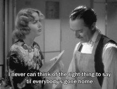 "Nitrate Diva - Carole Lombard expresses ""l'esprit de l'escalier"" in My Man Godfrey (1936)."