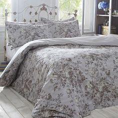 Silver 'Edie' bed linen - Duvet covers & pillow cases - Bedding - Home & furniture - Linen Duvet, Linen Fabric, Double Duvet Covers, Pillow Covers, Flat Ideas, Linens, Guest Room, Soft Leather, Home Furniture