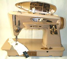 """Behold, the lovely Singer Slant-O-Matic 503 special, AKA """"The Rocketeer"""" 1961"""