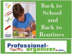 Back to School and Back to Routines for Everyone Routines make everyone more productive