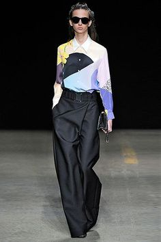 29 Runway Outfits We Want To Wear NOW #refinery29  http://www.refinery29.com/fall-outfits#slide-21  While a button-up top and tailored trouser seems like a classic combo, a colorful pattern and wide-leg silhouette truly makes this 3.1 Phillip Lim look shine....