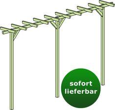 Reduced wood pergolas-Reduzierte Holzpergolen Pergola Terniflora double – dimensions: 450 x 60 x 240 cm (W x D x H) Steinersteiner -