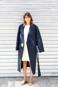 LE MANTEAU OEILLET LONG, NAVY